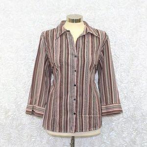 Apt. 9 Button Down Stripe Dress Shirt